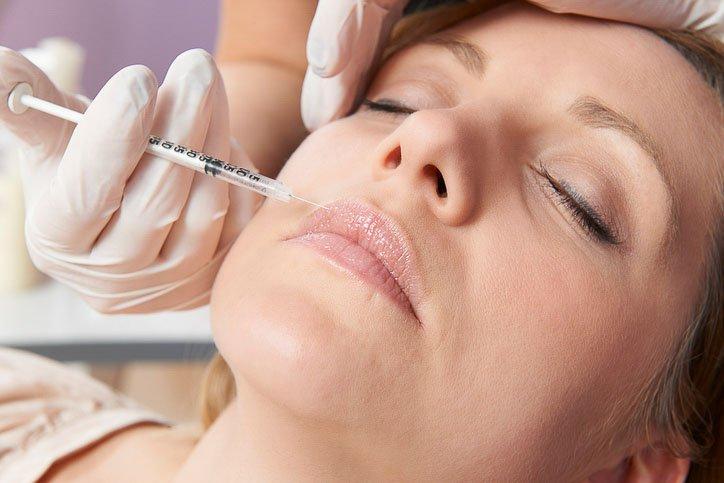 Botox Lady Getting Lip Flip Injection