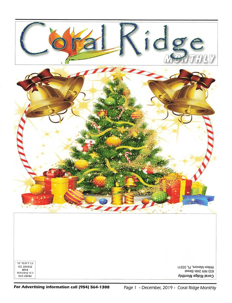 Coral Ridge Newsletter Dec 2019 Cover
