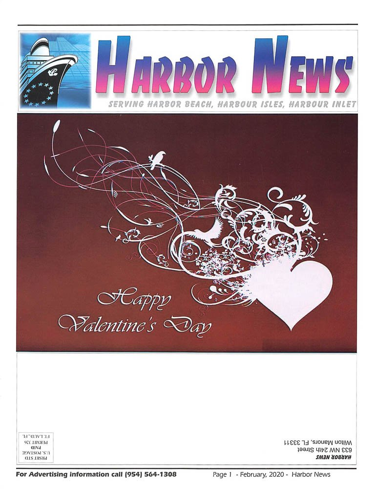 Harbor News - Feb 2020 Cover