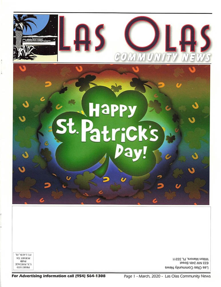 Las Olas Newsletter - March 2020 Cover