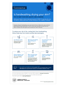 Rough, Dry Skin? How to Care for Over Washed Hands 4
